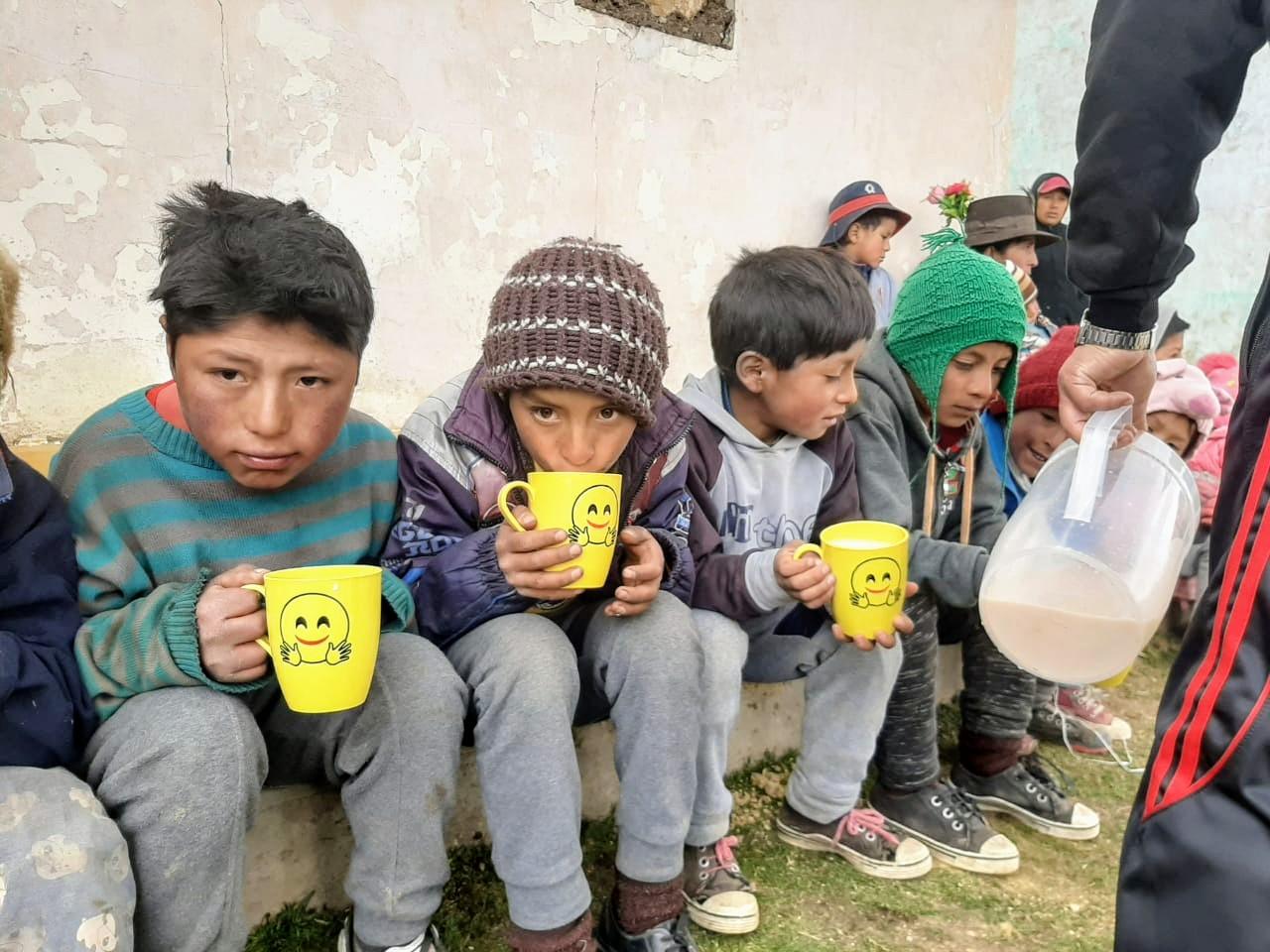 Children Drinking Chocolate Milk